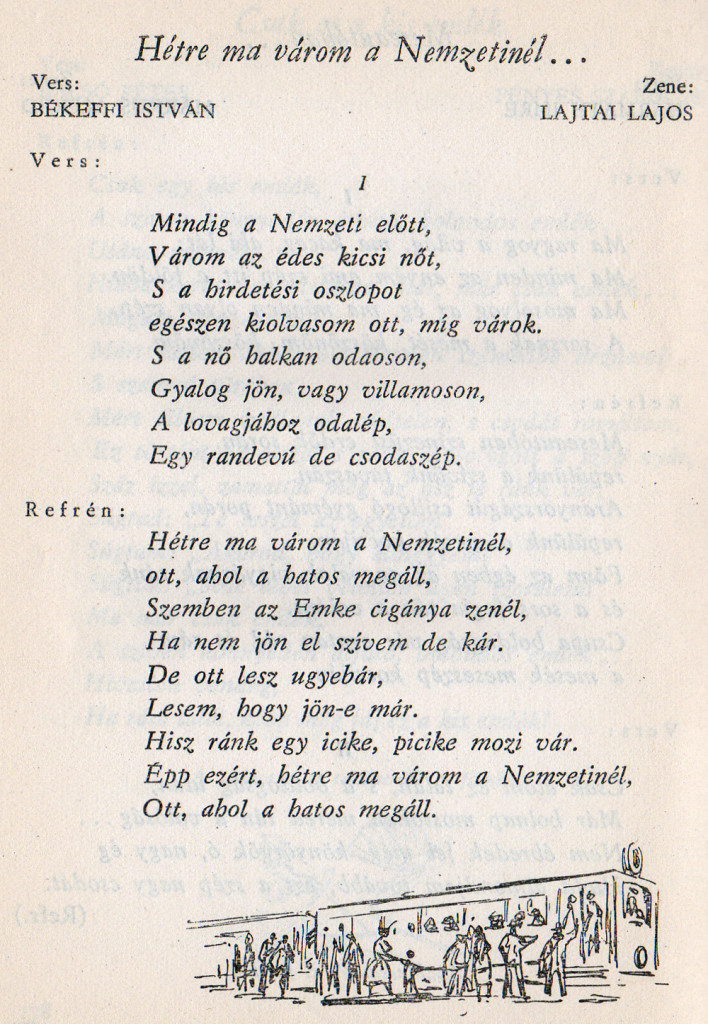 Táncdalok és sanzonok, 1958-1