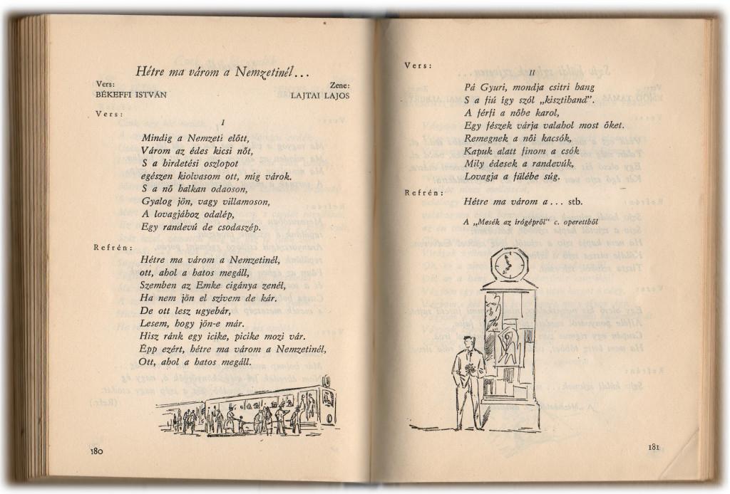 Táncdalok és sanzonok, 1958